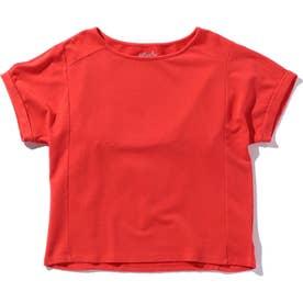 バックスリット半袖プルオーバー RED1
