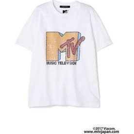 プリントクルーネックTシャツ WHITE LT