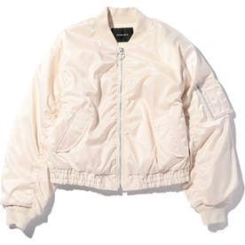 ショート丈MA-1ジャケット WHITE MID1