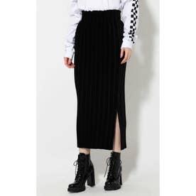 プリーツスカート ブラック1