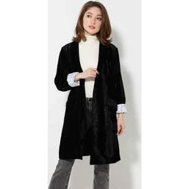 ロングジャケット ブラック1
