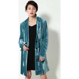 ロングジャケット ブルー1