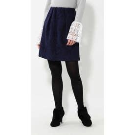 ジャガードスカート ブルー1