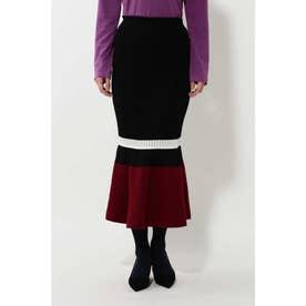 マーメイドニットスカート ブラック1
