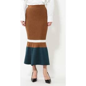 マーメイドニットスカート ブラウン1