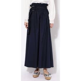 ハイウエストタックギャザースカート ネイビー1