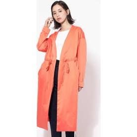ノーカラーコート オレンジ1