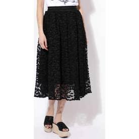 タックフレアスカート ブラック1