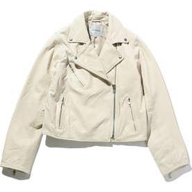 ラムレザーライダースジャケット WHITE MID1