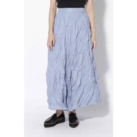 ランダムプリーツマキシスカート ブルー1