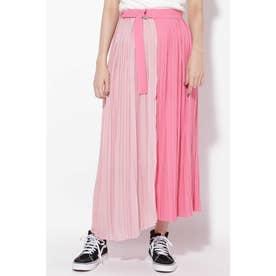 プリーツラップスカート ピンク1