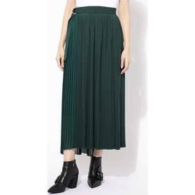 プリーツラップスカート グリーン1