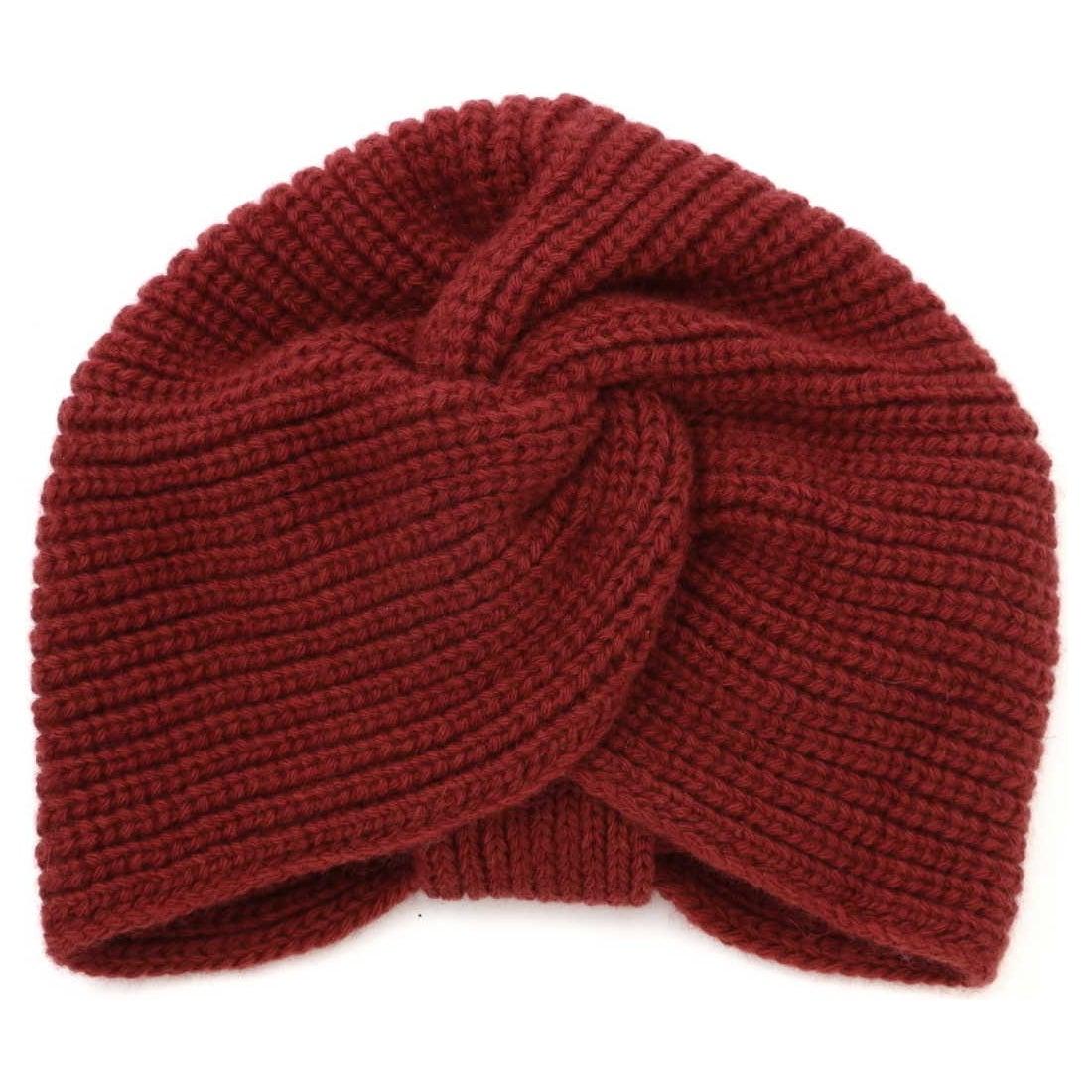 バックリボンニット帽RED1