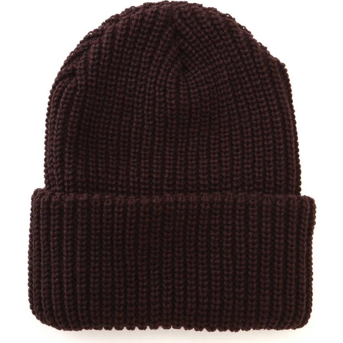 NYHATニット帽BROWN1
