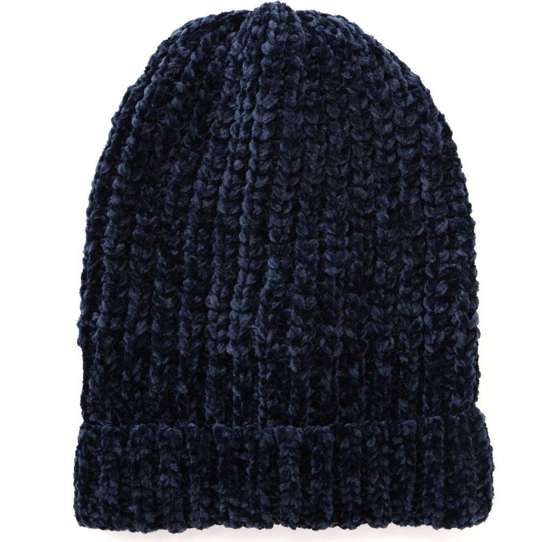 ローゲージニット帽 ネイビー1