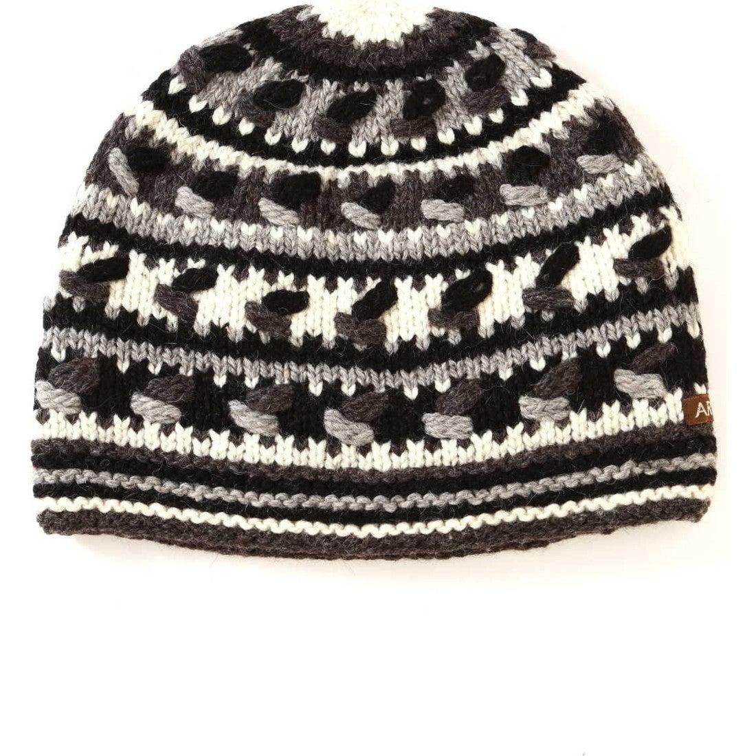 ARTESANIAニット帽BLK/WHT1