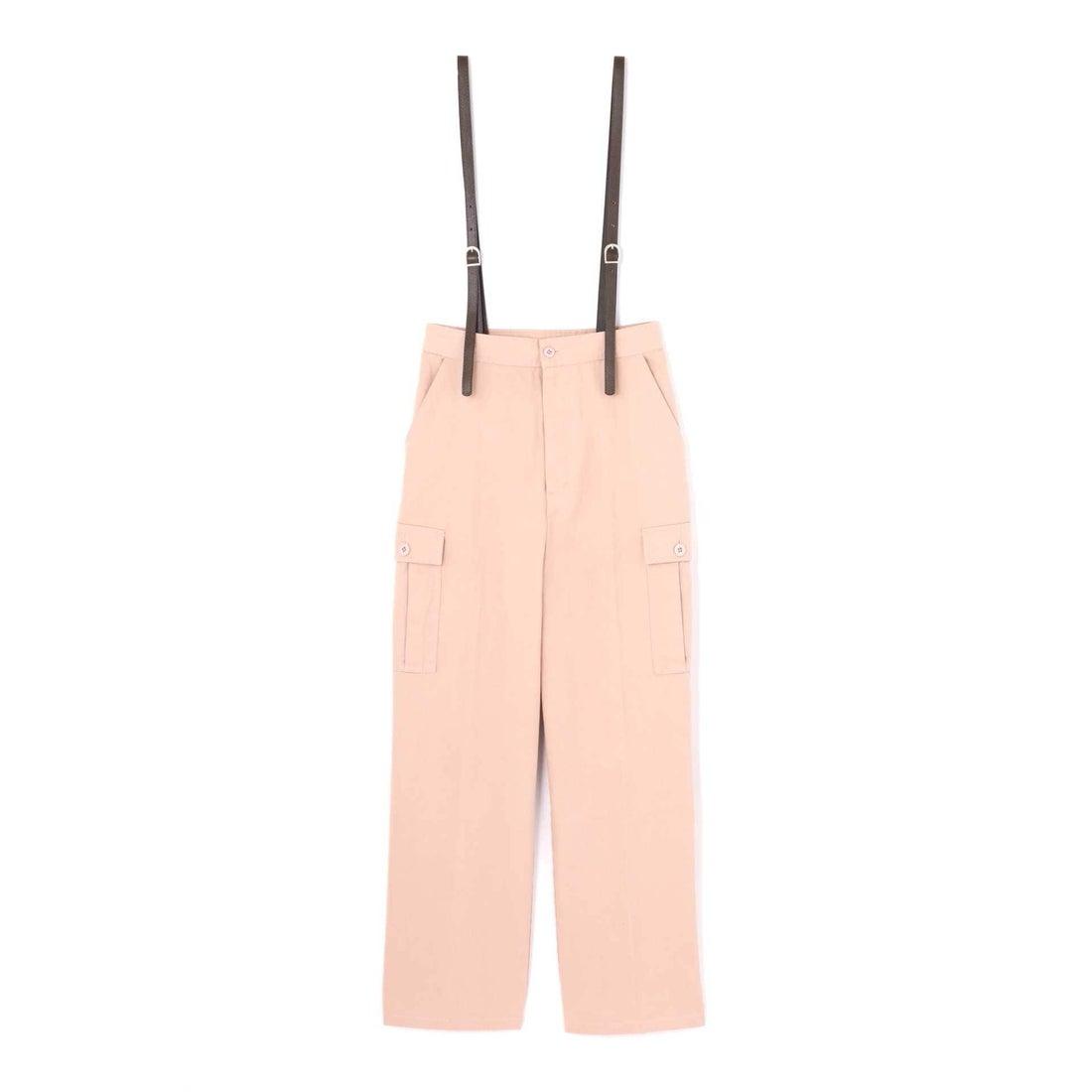 サスペンダー付きカーゴパンツ ピンク