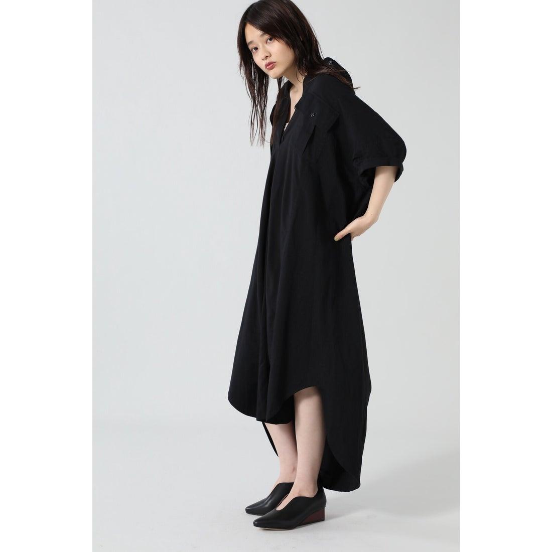 ミリタリーシャツドレス ブラック