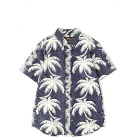 メンズAlohaシャツ ネイビー1