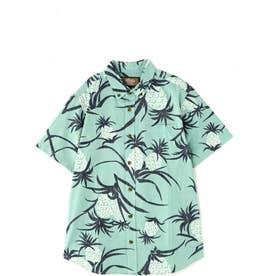 メンズAlohaシャツ ライトグリーン TURQ1