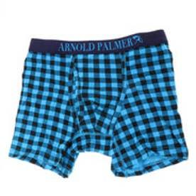 【返品不可商品】アーノルドパーマー arnold palmer ブロックプリントボクサーパンツ (ブルー)