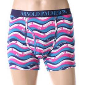 アーノルドパーマー arnold palmer ウェーブプリントボクサーパンツ (ブルー)【返品不可商品】