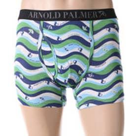 アーノルドパーマー arnold palmer ウェーブプリントボクサーパンツ (グリーン)【返品不可商品】