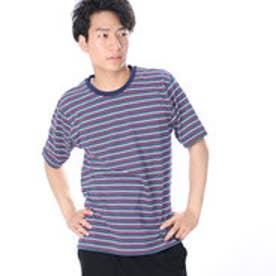 アーノルドパーマー arnold palmer 天竺ボーダークルーTシャツ (ネイビー)