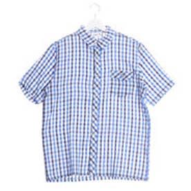アーノルドパーマー arnold palmer 2重ガーゼチェックシャツ (ブルー)