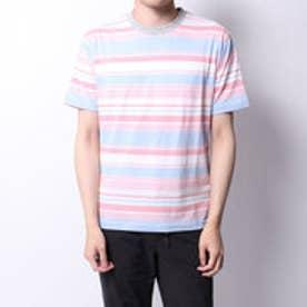 アーノルドパーマー Arnold Palmer 天竺パネルボーダーTシャツ (ピンク)