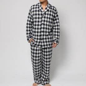 コンフォートインデックス COMFORT INDEX ギンガムチェックオープンカラーパジャマ (ネイビー)