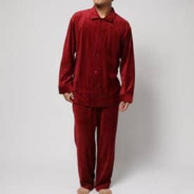 コンフォートインデックス COMFORT INDEX ベロアレギュラーカラーパジャマ (レッド)