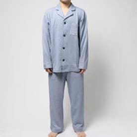 コンフォートインデックス COMFORT INDEX ミニ裏毛レギュラーカラーパジャマ (ブルー)