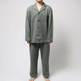 コンフォートインデックス COMFORT INDEX ミニ裏毛レギュラーカラーパジャマ (グリーン)