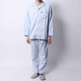 ランバン コレクション LANVIN COLLECTION ドビームジ9分パンツパジャマ (ブルー)