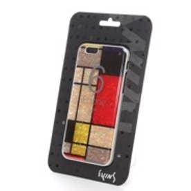 アイキンス iKins iPhone6 天然貝ケース Mondrian ホワイトフレーム(Mondrian ホワイト)