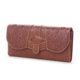 サック SAC 飾り柄かぶせ長財布(ブラウン)【SAC petit】