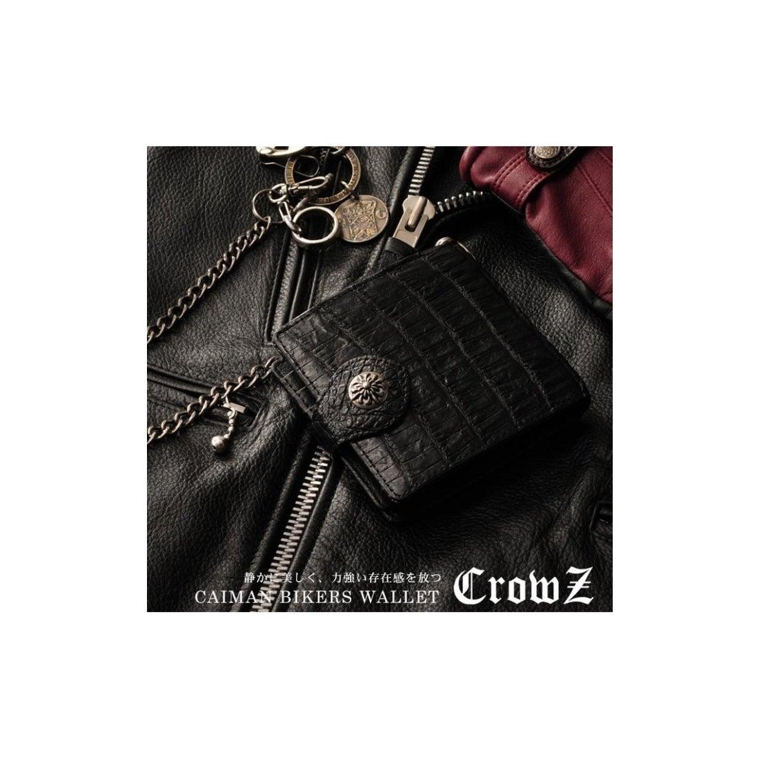 online store ae238 76e3f mieno [Crowz]カイマンレザー折り財布メンズブラック ブラック ...