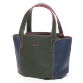 サボイ SAVOY バイカラーハンドバッグ(グリーンブルー)