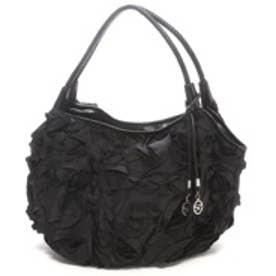 サボイ SAVOY バラモチーフハンドバッグ (ブラック)