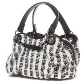 サボイ SAVOY ツイード素材ハンドバッグ (ブラック)