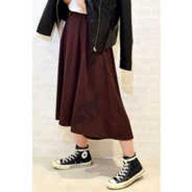 ベルト付刺繍フィッシュテールスカート ブラウン