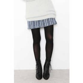 カラフルヘリンボーンスカート サックス系1
