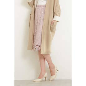 ランダムヘムレースタイトスカート ピンク