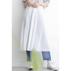 ◆シア楊柳プリーツレイヤードスカート ホワイト
