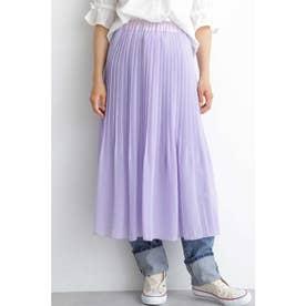 ◆シア楊柳プリーツレイヤードスカート ラベンダー