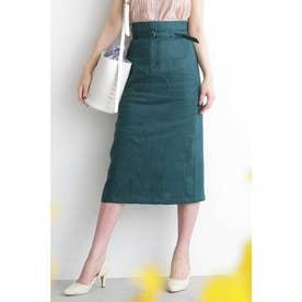◆ベルト付カラーペンシルスカート グリーン