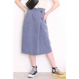 ◆サイドベルトピーチペンシルスカート ブルー