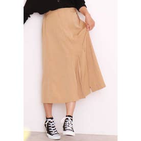 ◆タックプリーツAラインラインスカート ベージュ
