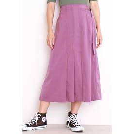 ◆タックプリーツAラインラインスカート パープル